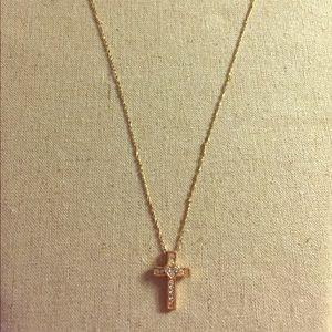 Jewelry - Real diamond cross w/ small heart in center